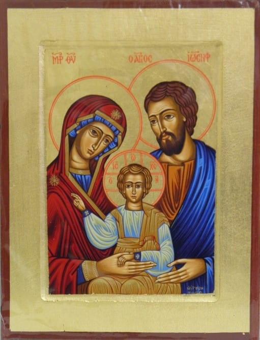 Ikona Grecka Z Certyfikatem święta Rodzina 24306 święty